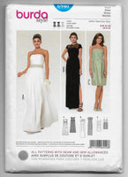 Sizes 8-20 Burda 6940 Bridal Gown, Wedding Prom Formal Dresses Sewing Pattern /Uncut