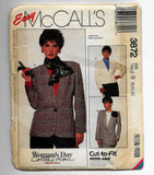 Size 8-12 Petite-able Women Blazer Jackets McCalls 3872 Sewing Pattern Uncut