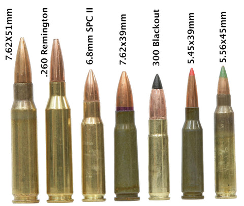 All supported calibers, with labels
