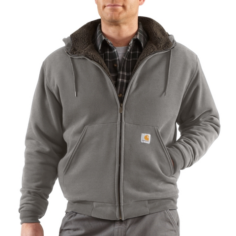 Carhartt Collinston Brushed Fleece Sherpa Lined Sweatshirt - Slate Heather (100072-070)