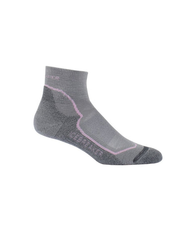 Icebreaker Womens Light Cushion Mini Socks - Fossil/Lily (100326-003)