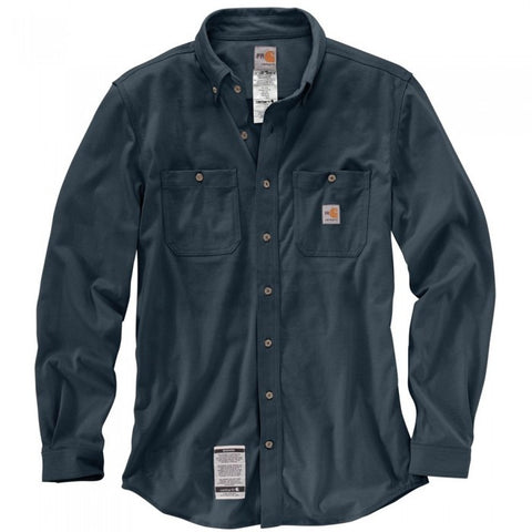 Carhartt FR Force Cotton Hybrid Shirt - Dark Navy (101698-410)