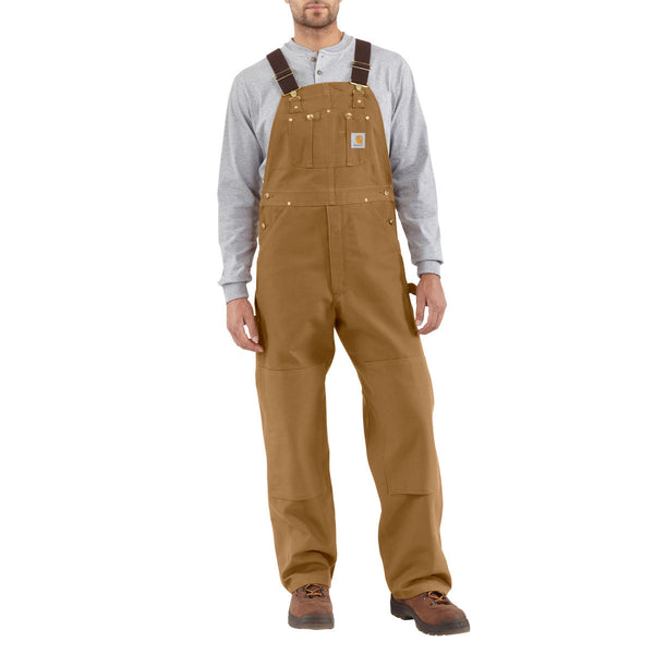 Carhartt Duck Bib Overall (Unlined) - Carhartt Brown (R01BRN)