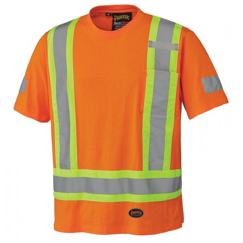 Pioneer Cotton Safety T-Shirt - Orange (6978)