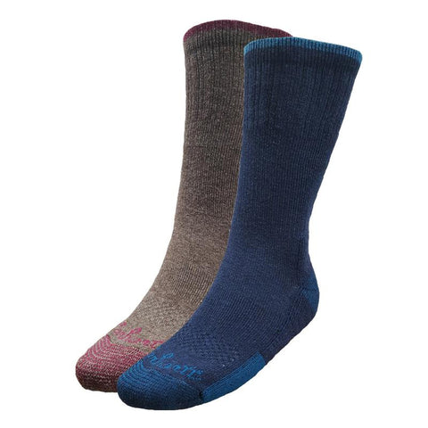 Carhartt Womens Merino Wool Blend 4-Pair Sock Pack - BMU (WA456-4-C-AST1-55-115)