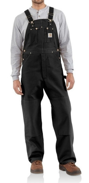 Carhartt Duck Bib Overall (Unlined) - Black (R01BLK)