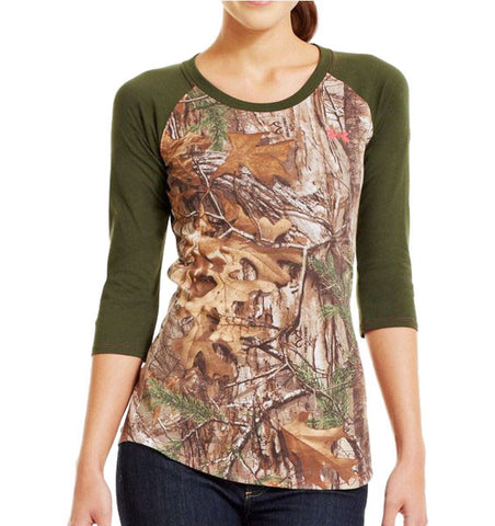 Under Armour Charged Cotton Camo 3/4 T-Shirt (1239908-946)