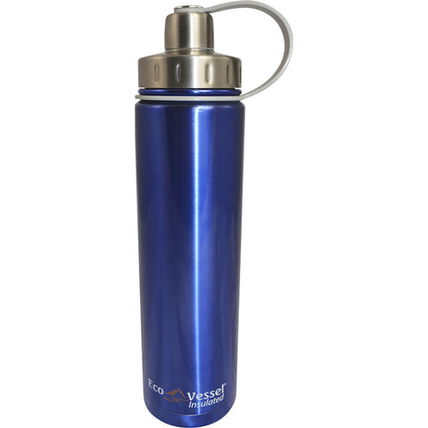 Eco Vessel Boulder 24oz Insulated Water Bottle - Blue (EVBLD24BL)