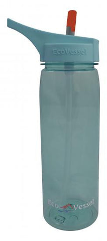 Eco Vessel Tritan Plastic Wave Sports Water Bottle - Blue (EVWAV25BL)