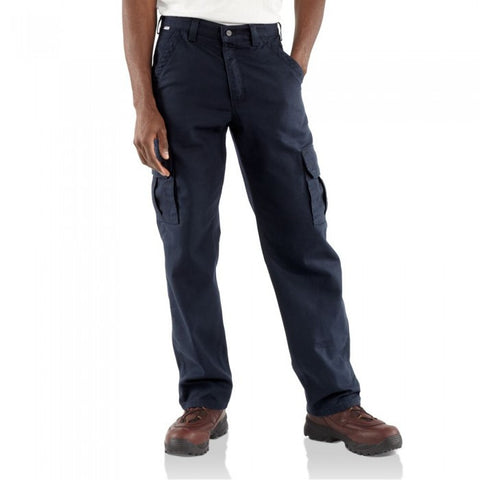 Carhartt Flame-Resistant Canvas Cargo Pants - Dark Navy (FRB240-DNY)