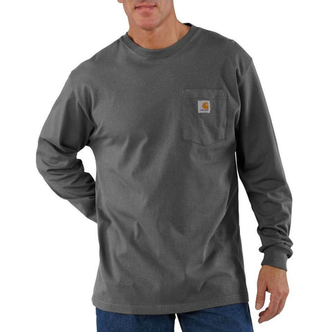 Carhartt Long Sleeve Workwear Pocket T-Shirt - Charcoal (K126-CHR)