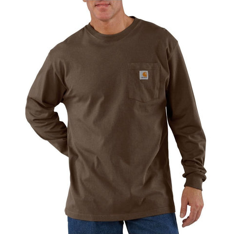 Carhartt Long Sleeve Workwear Pocket T-Shirt - Dark Brown (K126-DKB)