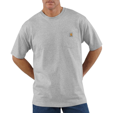 Carhartt Workwear Pocket T-Shirt - Heather Grey (K87HGY)