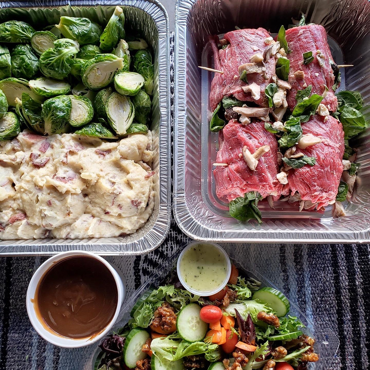 Stuffed Flank Steak Assembly Instructions