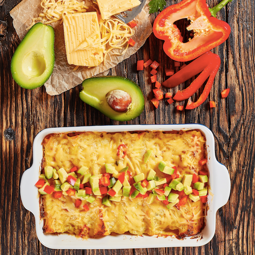 Ranch Chicken Enchiladas Assembly Instructions