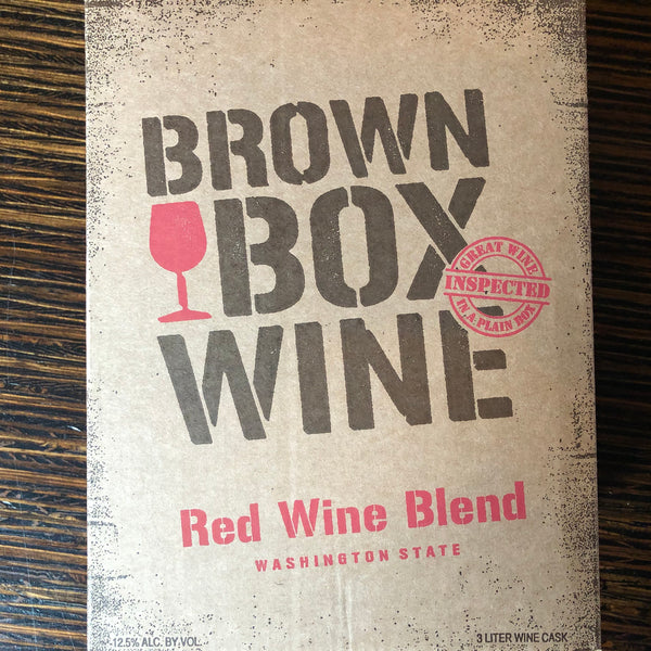 Brown Box Wine - Red, 3 Liter