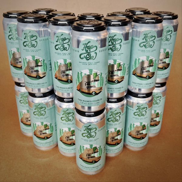 "CLEARANCE: Case of ""Hop On"" Fresh Hop IPA -  24 - 16oz. Cans"