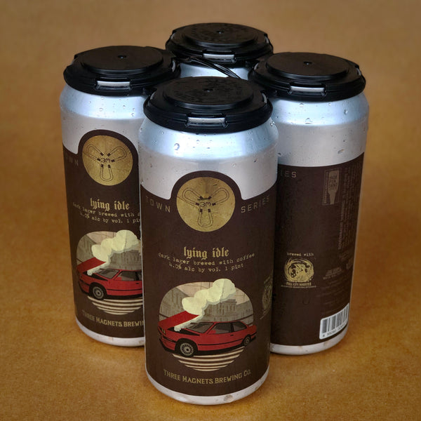 Lying Idle Dark Coffee Lager -  4-Pack, 16oz. Cans