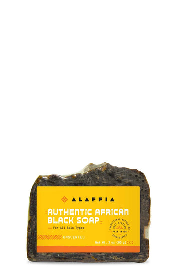 Alaffia Black Soap Bar Unscented 3oz.