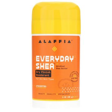 Alaffia Deodorant - Everyday Shea Dry Finish, Unscented - 3oz.