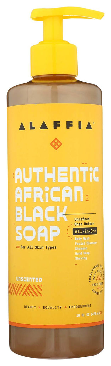 Alaffia All-in-One Unscented Shampoo & Bodywash - 16oz.