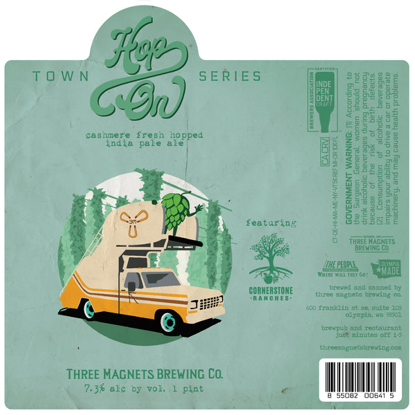 """Hop On"" Fresh Hop IPA -  4-Pack, 16oz. Cans"