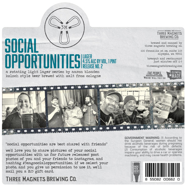 Social Opportunities Lager - 4-Pack, 16oz. Cans