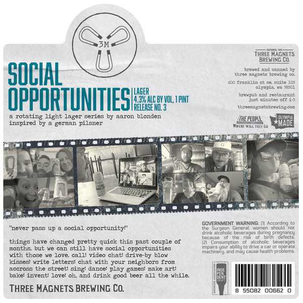 NEW: Social Opportunities #3 - 4-Pack, 16oz. Cans
