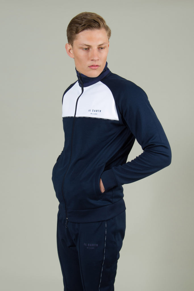 Alessandro Track Top - Navy