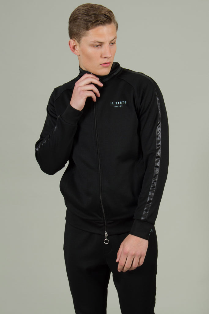 Lorenzo Track Top - Black