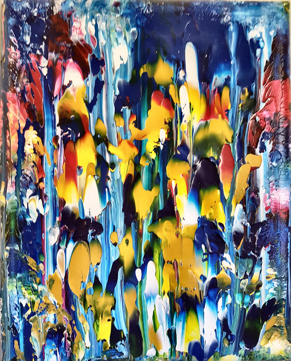 Blue Garden Abstract Gallery Canvas