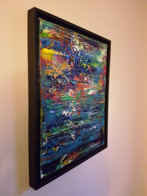 Sunset Beach - Framed Original Abstract Acrylic Painting