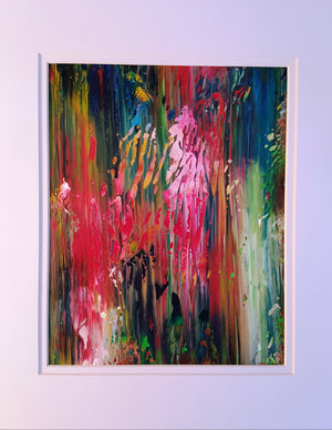 Secret Forest Garden Abstract Original Painting
