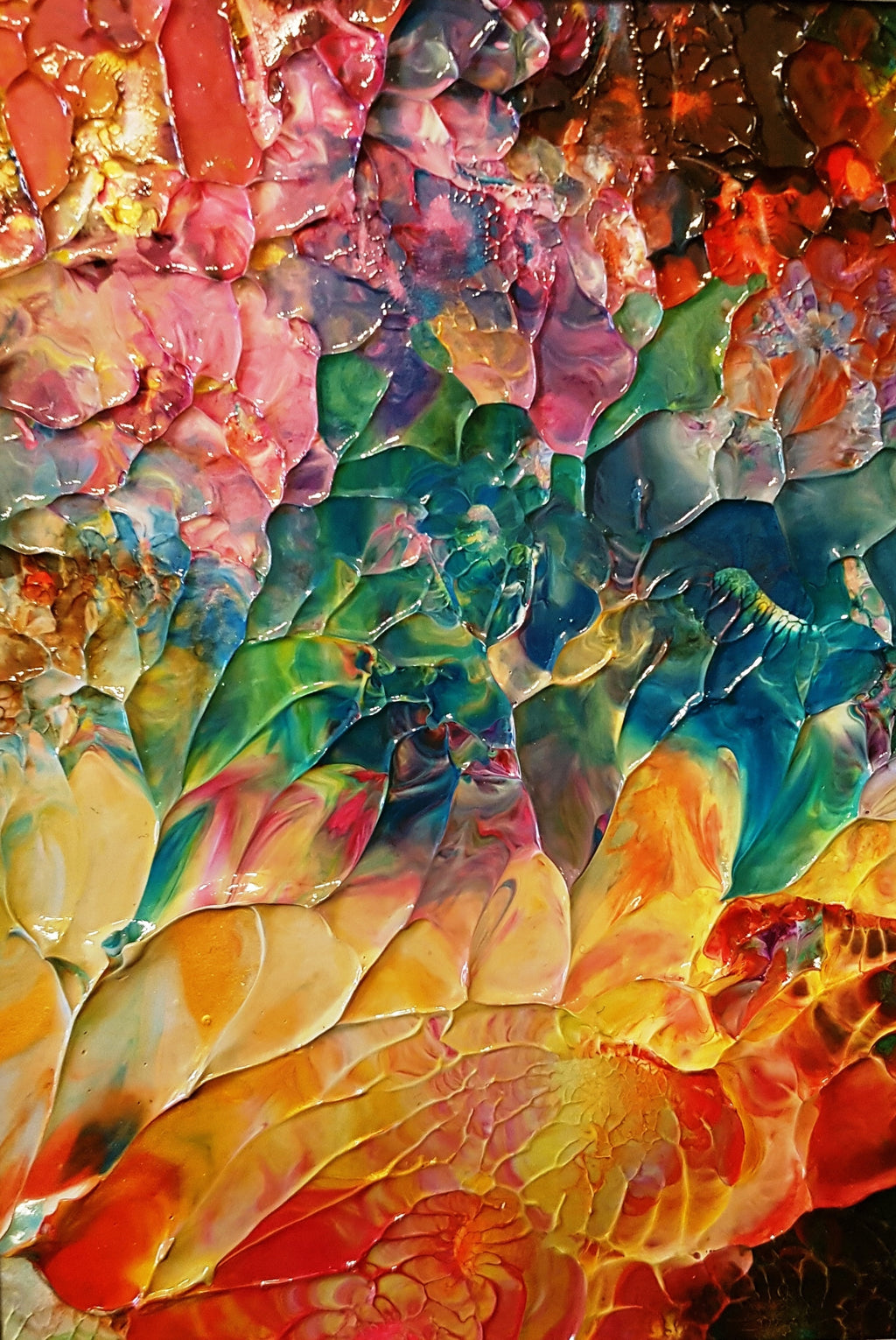 Golden Garden Abstract Original Painting