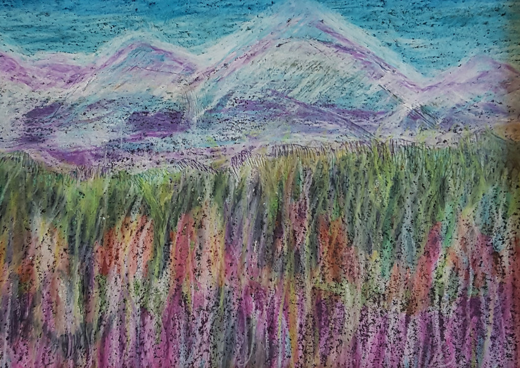 Pastel Mountain View