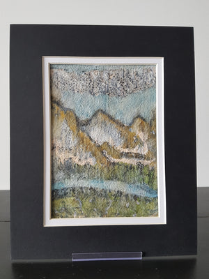 Mystic Mountains on Handmade Paper