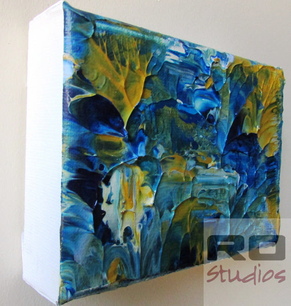 Secret Lake Acrylic Original Abstract Canvas
