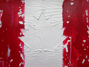 Canadian Abstract Flag Original Painting