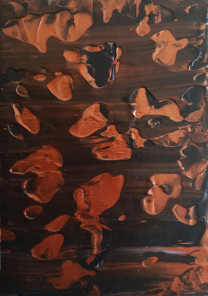 Copper Abstract Acrylic Gallery Canvas Painting