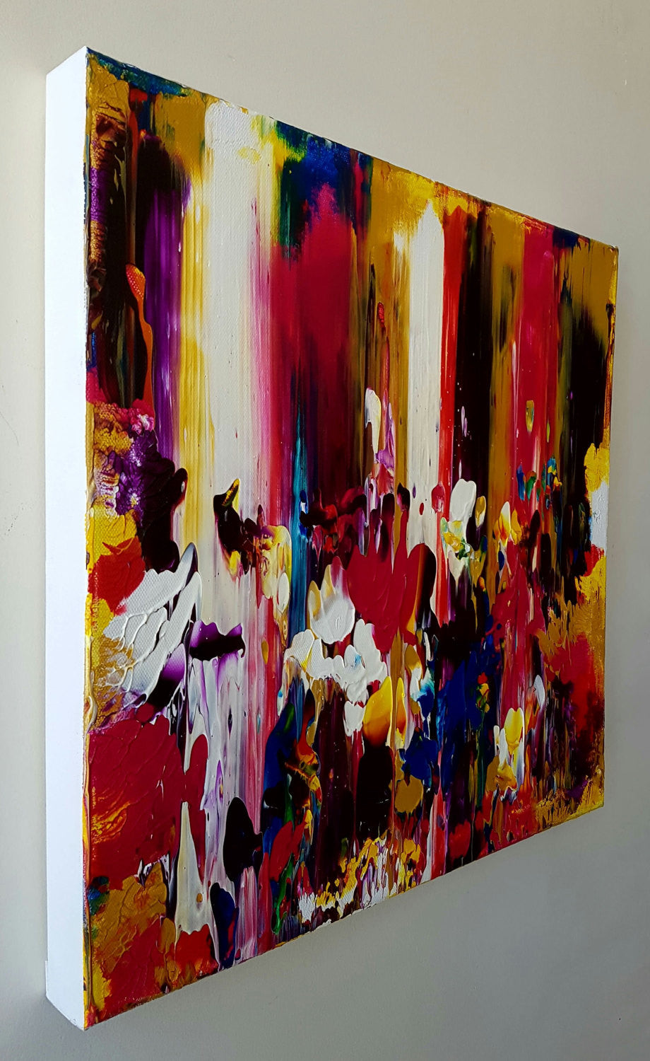 Melting Wax Original Acrylic Canvas Painting