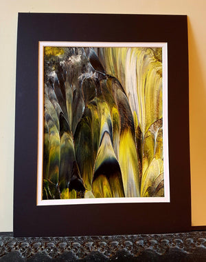 Black and Yellow Abstract Original Painting