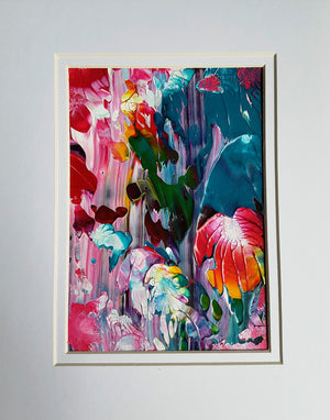 Coral Reef Abstract Acrylic Painting