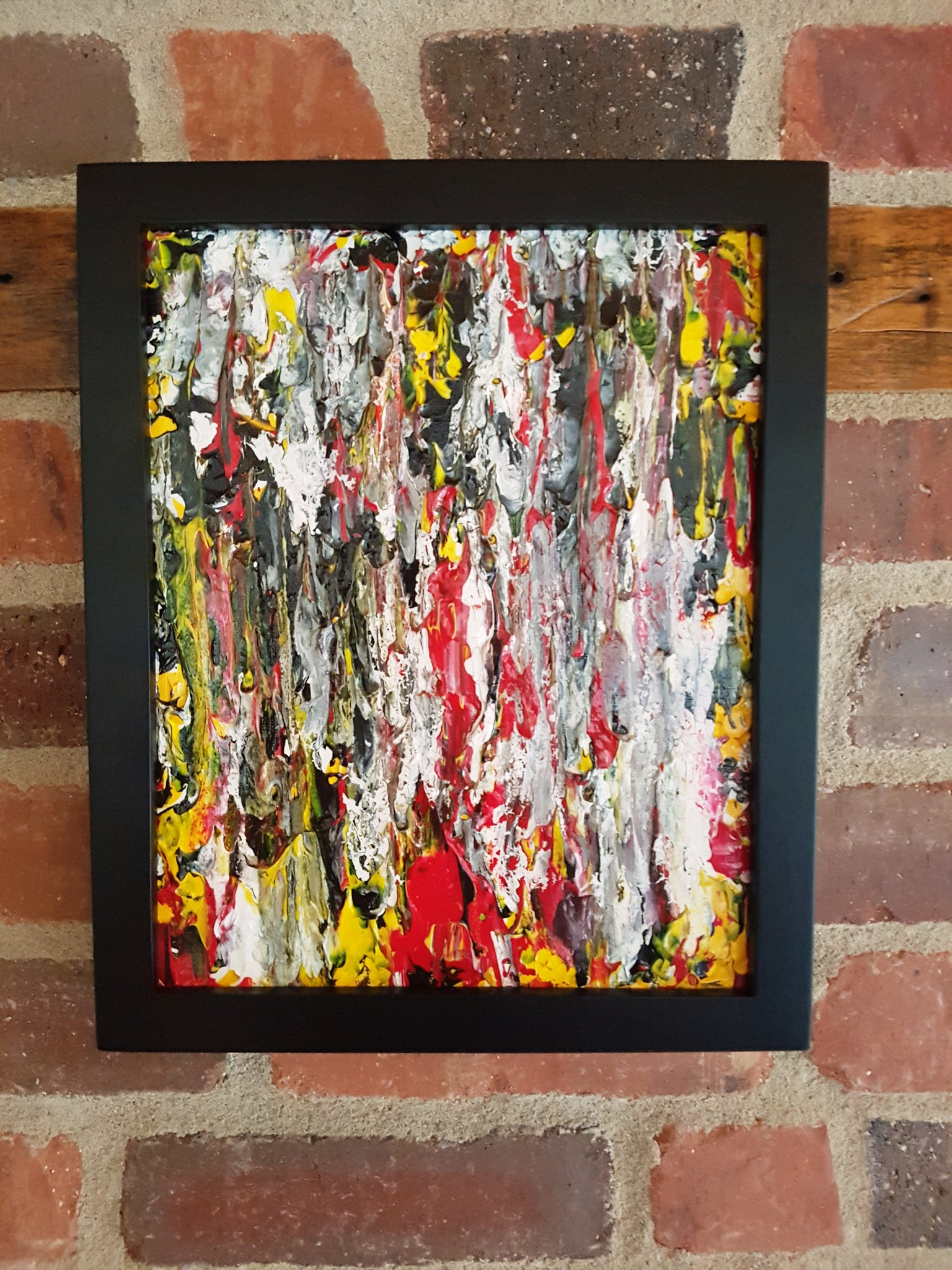 Fire Storm Acrylic Abstract Painting