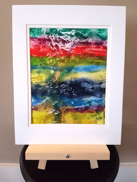 Landscape in Abstract Watercolor Painting