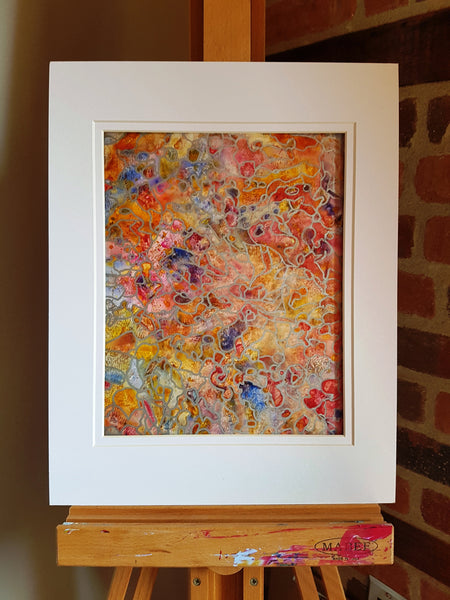 Cobblestone Watercolor Abstract Painting