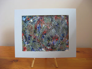 Forest Winter Blue Abstract Painting