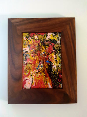 Flash Acrylic Painting in Handmade Wood Frame