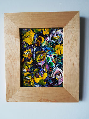 Field of Abstract Wildflowers Original Acrylic Painting