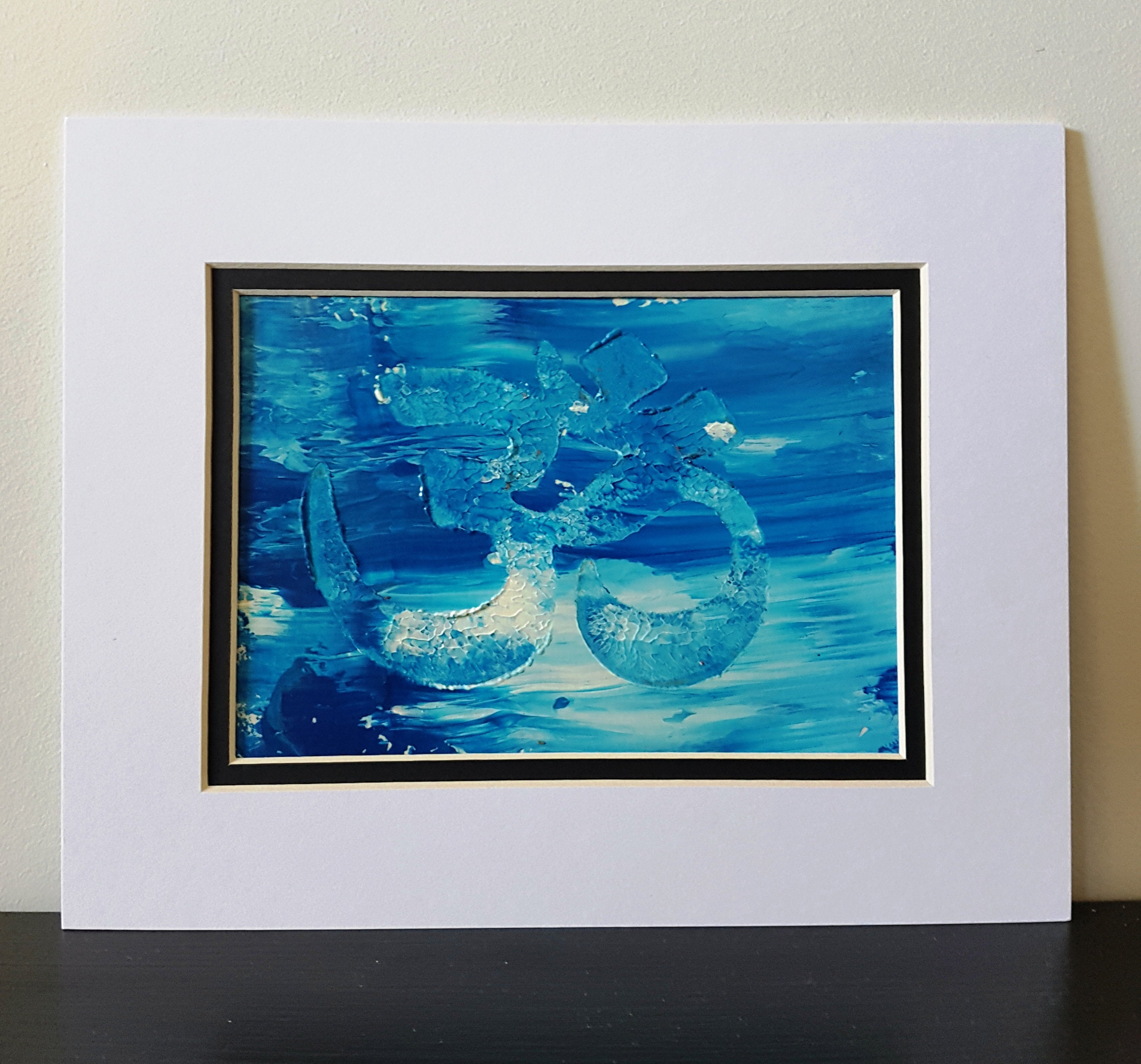Blue Sky OM Abstract Acrylic Painting