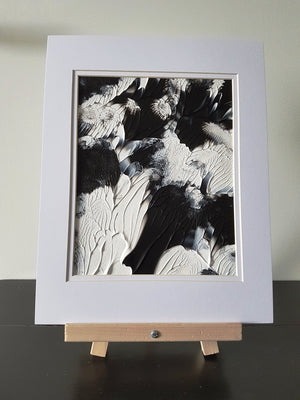 Art Deco in Black and White Acrylic Abstract Painting